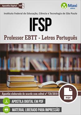 Professor EBTT - Letras Português