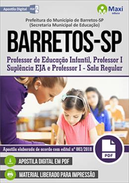Professor de Educação Infantil, Professor I - Suplência EJA e Professor I - Sala Regular