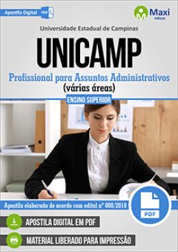 Profissional para Assuntos Administrativos (várias áreas)