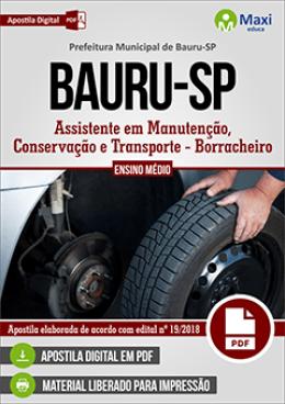 Técnico em Manutenção, Conservação e Transporte - Borracheiro