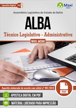 Técnico Legislativo - Administrativa