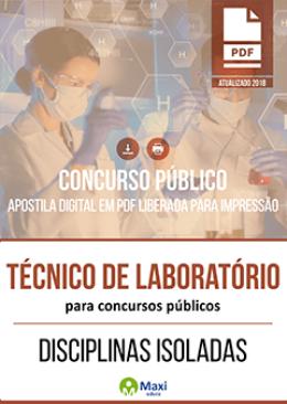 Técnico de Laboratório para Concursos Públicos