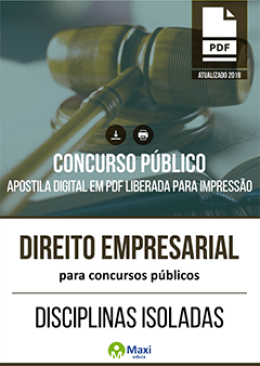 Direito Empresarial para Concursos Públicos