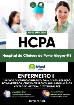 Enfermeiro I (Unidade de Centro Cirúrgico, Sala de Recuperação Pós-Anestésica, Centro Cirúrgico Ambulatorial e/ou Centro de Material e Esterilização)