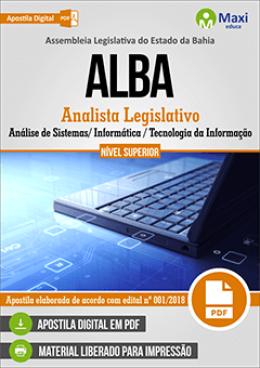 Analista Legislativo - Análise de Sistemas/ Informática / Tecnologia da Informação
