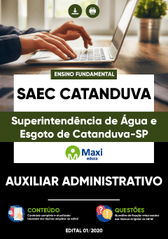 Apostila Digital em PDF da Superintendência de Água e Esgoto de Catanduva-SP - SAEC Catanduva