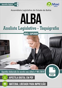 Analista Legislativo - Taquigrafia