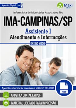 Assistente I - Atendimento e Informações