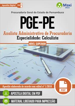 Analista Administrativo de Procuradoria - Especialidade: Calculista