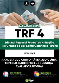 Apostila Digital em PDF do Tribunal Regional Federal da 4ª Região - Rio Grande do Sul, Santa Catarina e Paraná - TRF 4