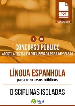 Língua Espanhola para Concursos Públicos