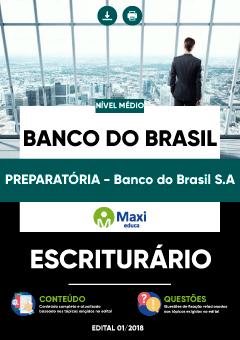 Apostila Preparatória Digital em PDF do Banco do Brasil S.A