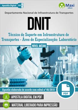 Técnico de Suporte em Infraestrutura de Transportes - Área de Especialização: Laboratório