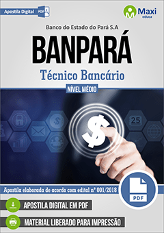 Apostila Digital em PDF do Banco do Estado do Pará S.A - BANPARÁ