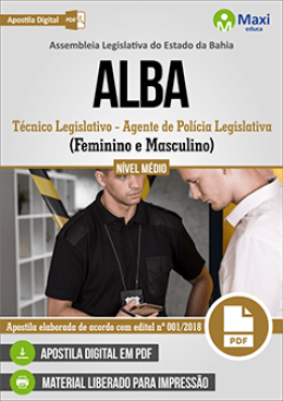 Técnico Legislativo - Agente de Polícia Legislativa (Feminino e Masculino)