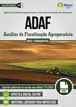 Auxiliar de Fiscalização Agropecuária