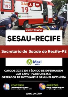Apostila Digital em PDF da Secretaria de Saúde do Recife-PE - SESAU-Recife