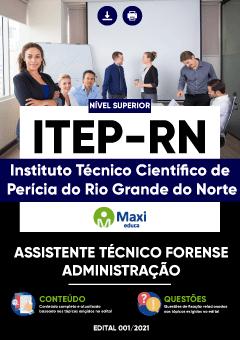 Apostila Digital em PDF do Instituto Técnico Científico de Perícia do Rio Grande do Norte - ITEP-RN