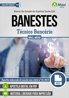 Apostila Digital em PDF do Banco do Estado do Espírito Santo S/A - BANESTES