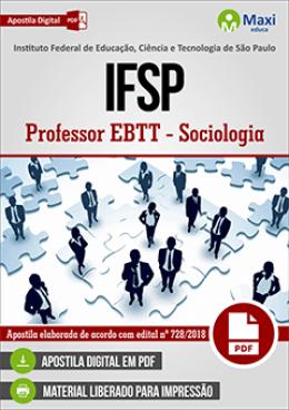 Professor EBTT - Sociologia
