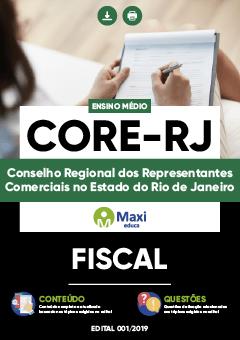 Apostila Digital em PDF do Conselho Regional dos Representantes Comerciais no Estado do Rio de Janeiro - CORE-RJ