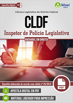 Apostila Digital em PDF da  Câmara Legislativa do Distrito Federal - CLDF