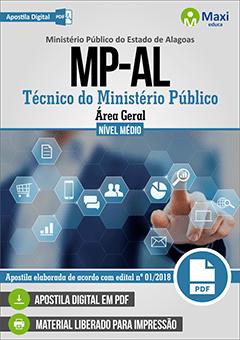Apostila Digital em PDF do Ministério Público do Estado de Alagoas -  MP-AL