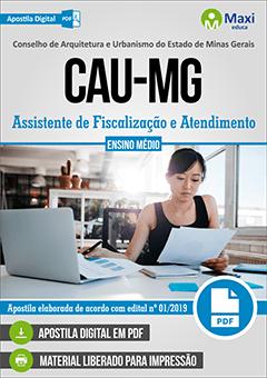 Apostila Digital em PDF do Conselho de Arquitetura e Urbanismo do Estado de Minas Gerais - CAU-MG