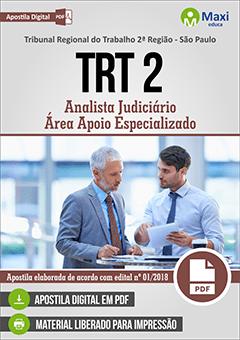 Apostila Digital em PDF do  Tribunal Regional do Trabalho 2ª Região - São Paulo - TRT 2