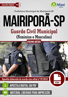 Apostila Digital em PDF da Prefeitura de Mairiporã-SP