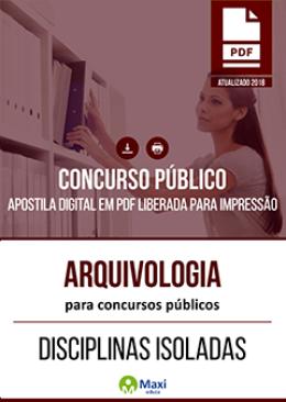 Arquivologia para Concursos Públicos