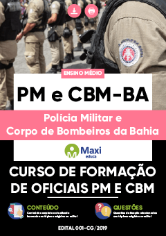 Apostila Digital em PDF da Polícia Militar e Corpo de Bombeiros da Bahia - PM e CBM-BA
