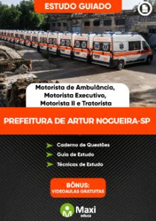 Concurso da Prefeitura de Artur Nogueira-SP