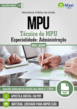 Técnico do MPU - Especialidade: Administração