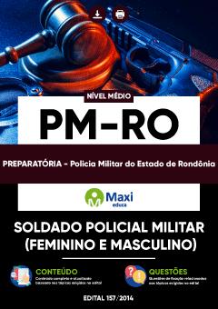 Apostila Preparatória Digital em PDF da Policia Militar do Estado de Rondônia - PM-RO