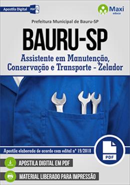 Assistente em Manutenção, Conservação e Transporte - Zelador