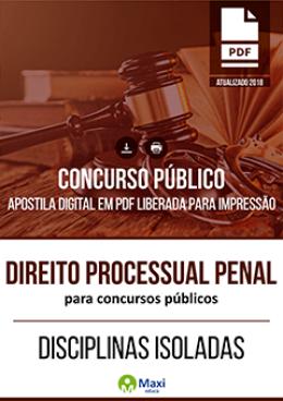 Direito Processual Penal para Concursos Públicos
