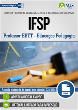 Professor EBTT - Educação Pedagogia
