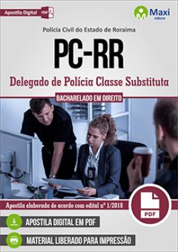 Delegado de Polícia Classe Substituta