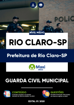 Apostila Digital em PDF da Prefeitura de Rio Claro-SP