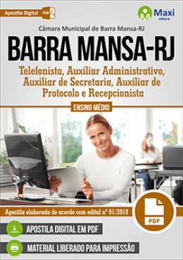 Telefonista, Auxiliar Administrativo, Auxiliar de Secretaria, Auxiliar de Protocolo e Recepcionista