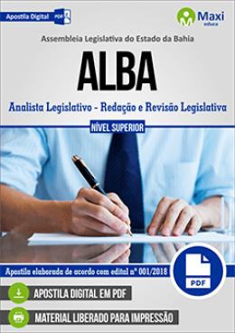 Analista Legislativo - Redação e Revisão Legislativa