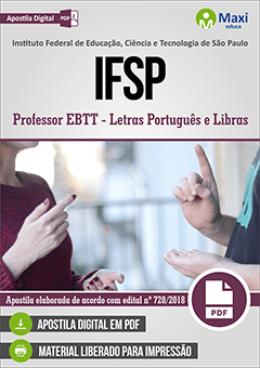 Professor EBTT - Letras Português e Libras