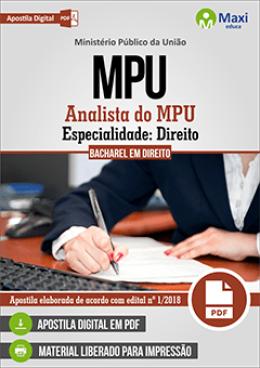 Analista do MPU - Especialidade: Direito