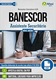 Apostila Digital em PDF do Banestes Corretora S/A - BANESCOR