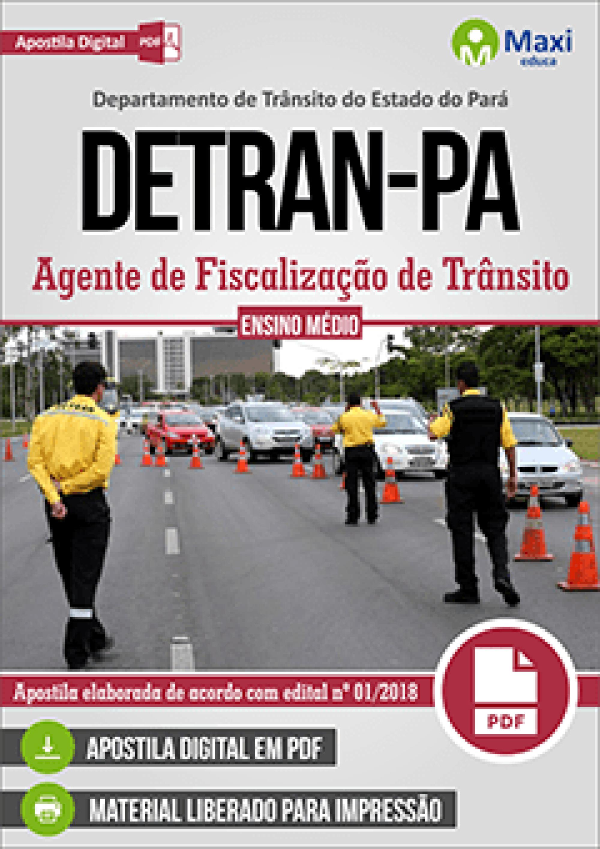 Capa - Apostila Digital em PDF do Departamento de Trânsito do Estado do Pará - DETRAN-PA - Agente de Fiscalização de Trânsito
