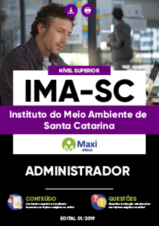 Capa - Apostila Digital em PDF do Instituto do Meio Ambiente de Santa Catarina - IMA-SC - Administrador