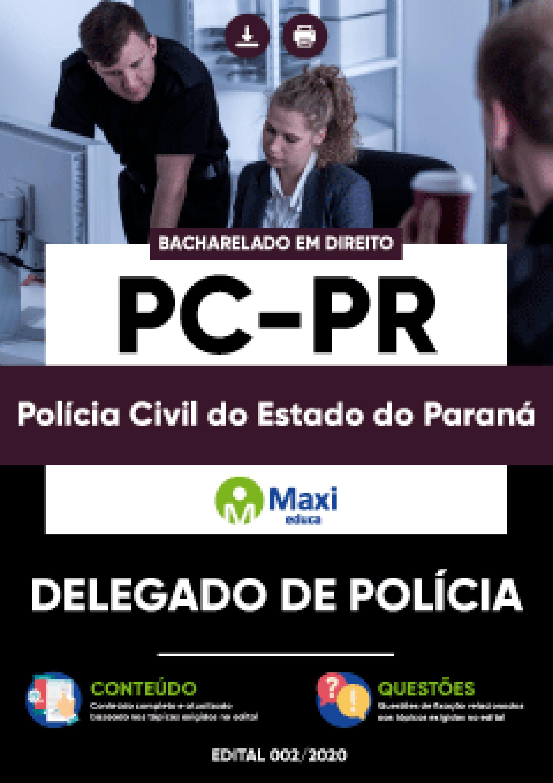 Apostila Digital em PDF da Polícia Civil do Estado do Paraná - PC-PR