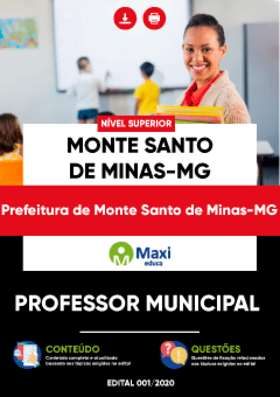 Apostila Digital em PDF Prefeitura de Monte Santo de Minas-MG