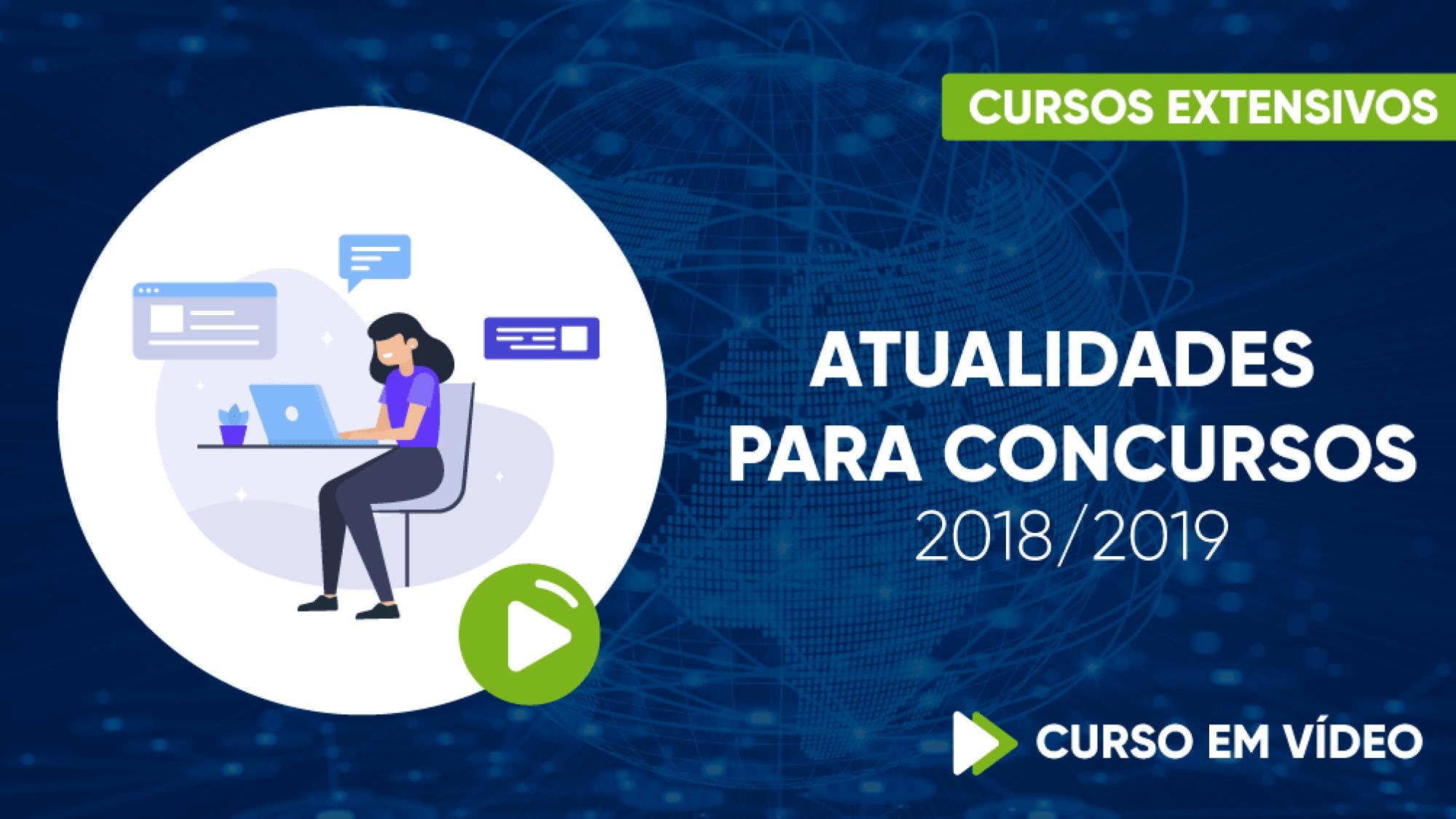 Capa - Curso Para Concursos - Atualidades para Concursos 2018/19